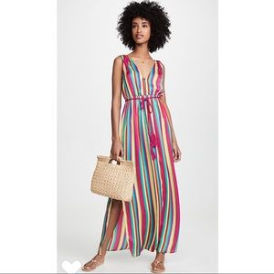 BB Dakota N the Rainbows Stripe Maxi Dress small